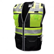 TYPE O CLASS 1 HEAVY WOVEN TWO TONE ENGINEER VEST (#SV55-1ZBD)