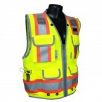 Two-Tone Engineer Class 2 Vest, Hi-Viz Green (#SV55-2ZGD)