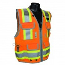 Two-Tone Engineer Class 2 Vest, Hi-Viz Orange (#SV55-2ZOD)