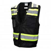 TYPE O CLASS 1 HEAVY DUTY SURVEYOR SAFETY VEST (#SV59-1ZBM)