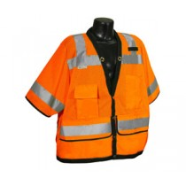 Class 3 Heavy Duty Surveyor Vest, Hi-Viz Orange, (#SV59-3ZOD)