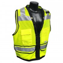 Class 2 Heavy Duty Surveyor Safety Vest, Hi-Viz green (#SV59Z-2ZGD)