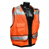Class 2 Heavy Duty Surveyor Safety Vest, Hi-Viz orange (#SV59Z-2ZOD)