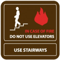 In Case Of Fire Do Not Use Elevators Use Stairways Sign (#SV60)