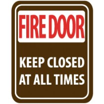 Fire Door Keep Closed At All Times Sign (#SV63)