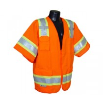 Two Tone Surveyor Class 3 Vest, Hi-Viz Orange (#SV63O)