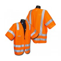 Standard Class 3 Vest, Hi-Viz Orange Mesh (#SV83OM)
