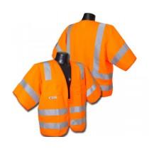 Standard Class 3 Vest, Hi-Viz Orange Solid (#SV83OS)