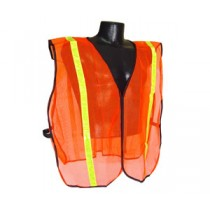 "Non-Rated Vest, 1"" Tape, Hi-Viz Orange (#SVO1)"