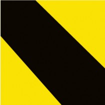 Stripe Safety Tape, Black & Yellow (#T202S)