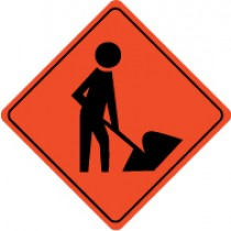 Man with Shovel Graphic Sign (#TM114J)