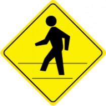 Pedestrian Crossing Graphic Sign (#TM119J)