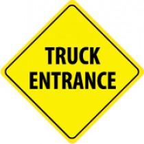 Truck Entrance Sign (#TM122J)