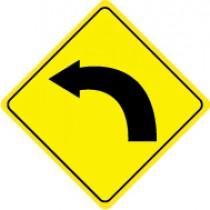 Left Curve Warning Graphic Sign (#TM123J)