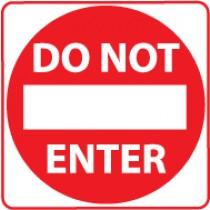 Do Not Enter Sign (#TM132J)