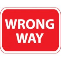 Wrong Way Sign (#TM133J)