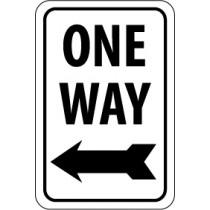 One Way (left arrow) Sign (#TM22)