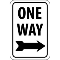 One Way (right arrow) Sign (#TM23)