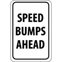Speed Bumps Ahead Sign (#TM35)
