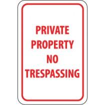 Private Property No Trespassing Sign (#TM59)