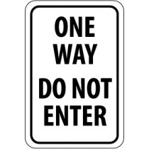 One Way Do Not Enter Sign (#TM73)