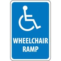 Wheelchair Ramp Sign (#TM86)