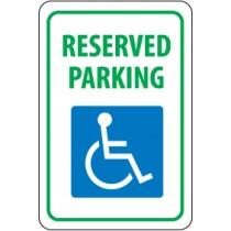 Reserved Parking (handicapped symbol) Sign (#TM87)