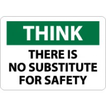 Think There Is No Substitute For Safety Sign (#TS136)