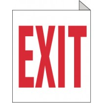 Exit Double Faced, Flanged Sign (#TV10)