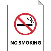 No Smoking 2-Vue Sign (#TV9)