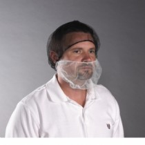 White Nylon Beard Cover (#UCBC-1000)