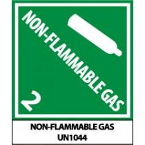 Non-Flammable Gas DOT Shipping Proper Label (#UN1044AL)