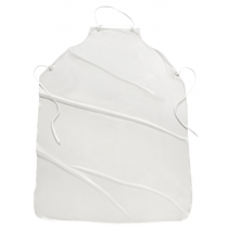 6 mil Raw Edge Apron White (#UUW)