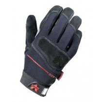 Mechanics Split-Leather Anti-Vibration Gloves (#V420-BLK)