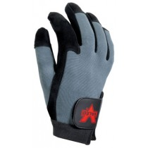 Split Leather Full-Finger Anti-Vibration Gloves (#V425)