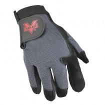 Split Leather Full-Finger Anti-Vibration Gloves (#V425)