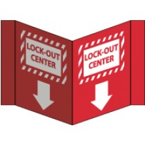 Lock-Out Center Visi Sign (VS20R)