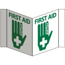 First Aid Visi Sign (#VS21W)