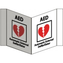 AED Automatic External Defibrillator Visi Sign (#VS27W)