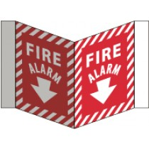 Fire Alarm Visi Sign (#VS28W)