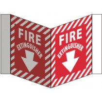 Fire Extinguisher Visi Sign (#VS31W)