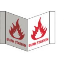 Burn Station Visi Sign (#VS38W)
