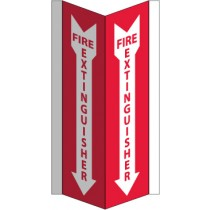Fire Extinguisher Visi Sign (#VS42W)