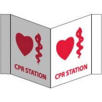CPR Station Visi Sign (#VS49W)