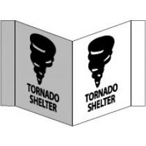 Tornado Shelter Visi Sign (#VS52W)