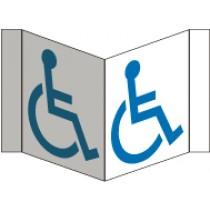 Handicapped Visi Sign (#VS8W)