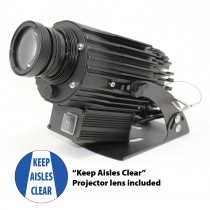 VIRTUAL SIGN PROJECTOR: KEEP AISLES CLEAR (#VSP4)