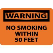 Warning No Smoking Within 50 Feet Sign (#W401)