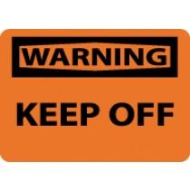 Warning Keep Off Machine Label (#W452AP)