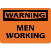 Warning Men Working Sign (#W455)